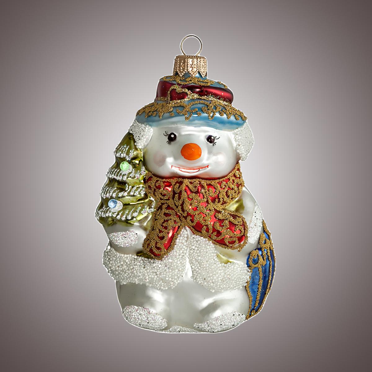 Снеговик с зонтиком
