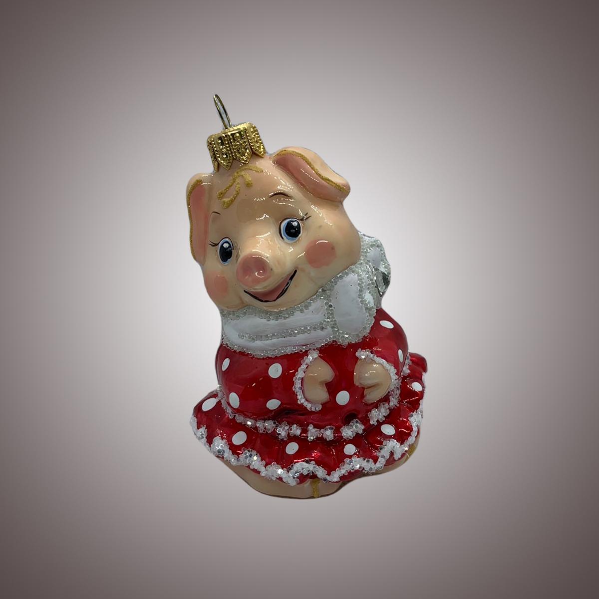 Свинка-девочка (порцеляна)