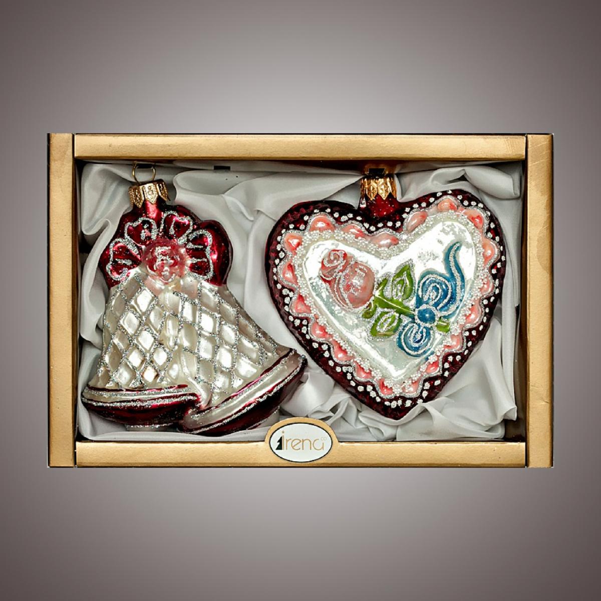 """Набор """"Сердце с розой, Колокольчики"""""""