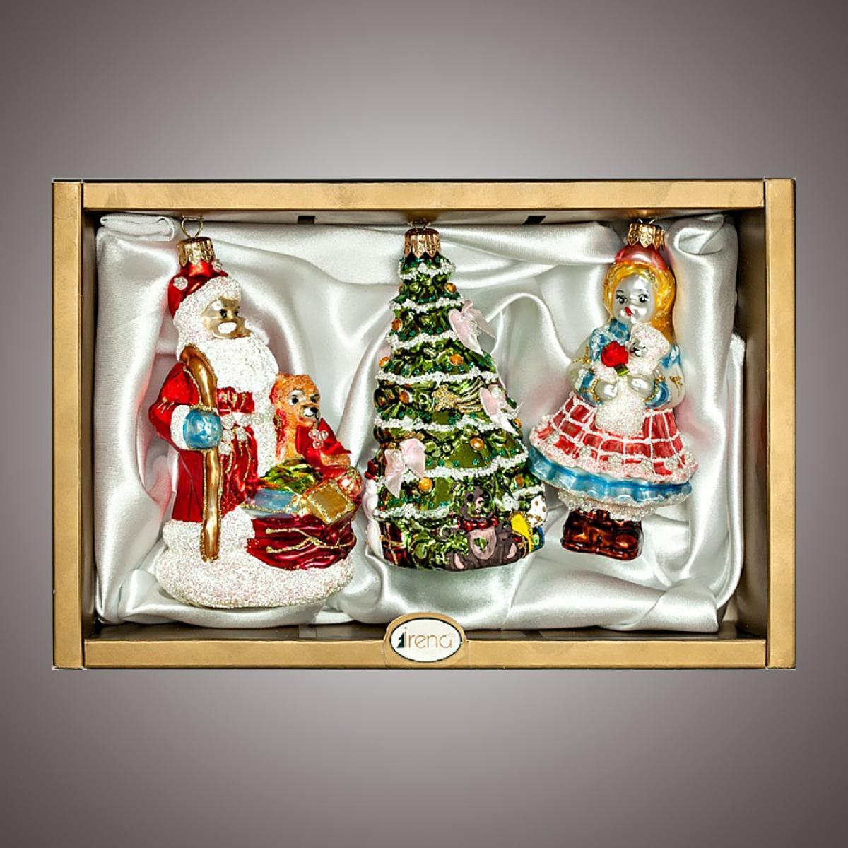 """Набор """"Дед Мороз,елочка,кукла с мишкой"""""""