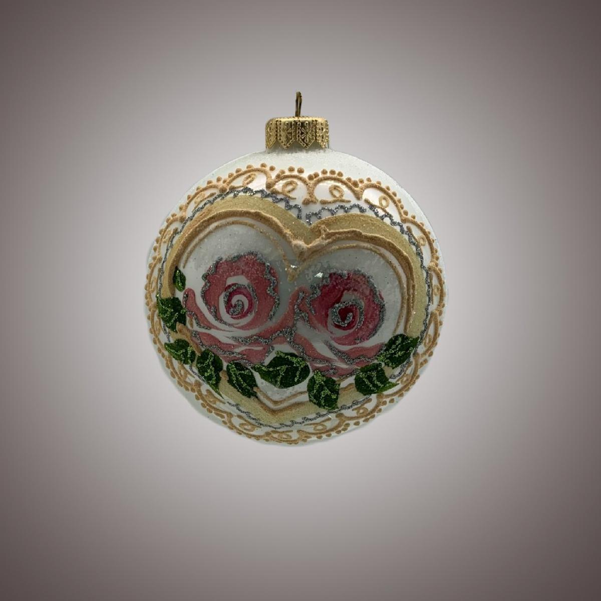 Шар Д 100 в инд.упак. Гламур роза коллекция белая АРТ 91549