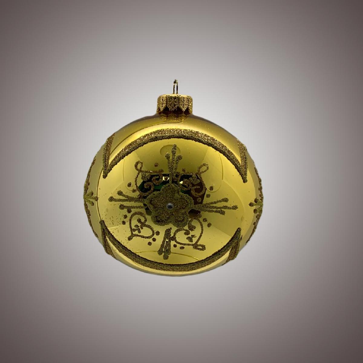 Шар Д 100 в инд.упак. Цветок в рамке золото АРТ 91572