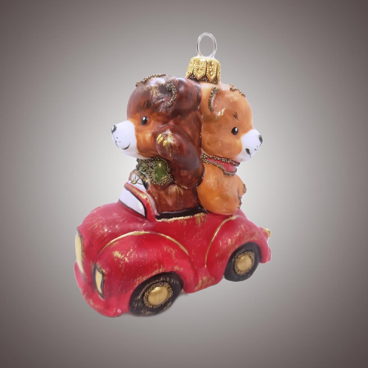 Два Мишки в авто (винтаж)