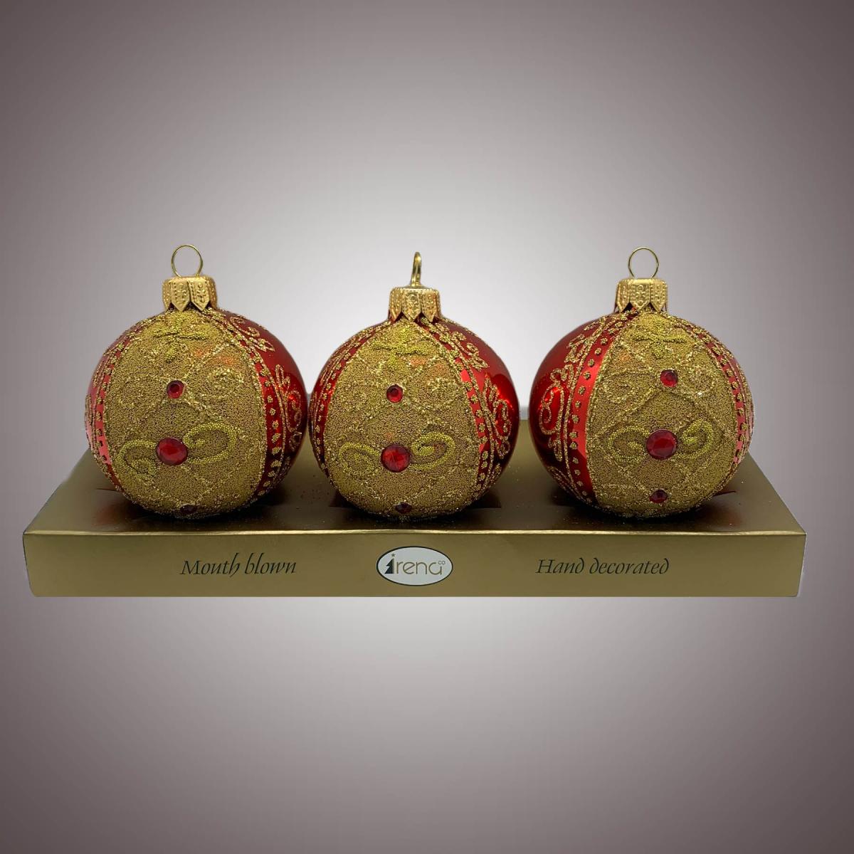 Набор шаров Д60 по 3 шт Арбуз красный АРТ. 80320