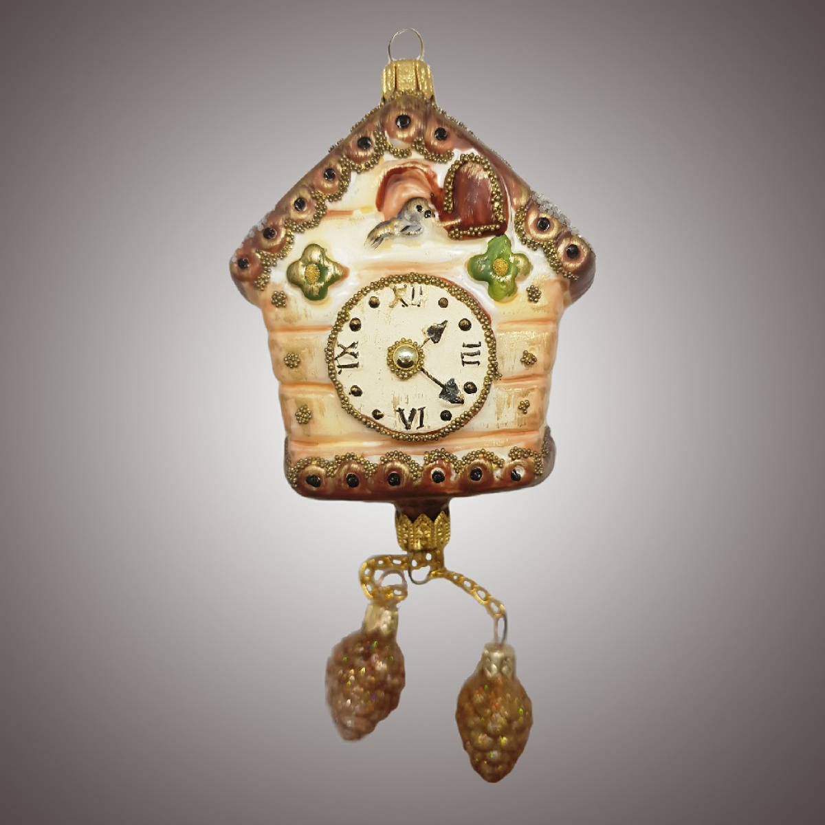 Часы с кукушкой и шишками (винтаж)