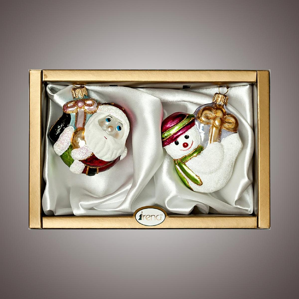 """Набор """"Дед Мороз и Снеговик-подвески"""", простой"""