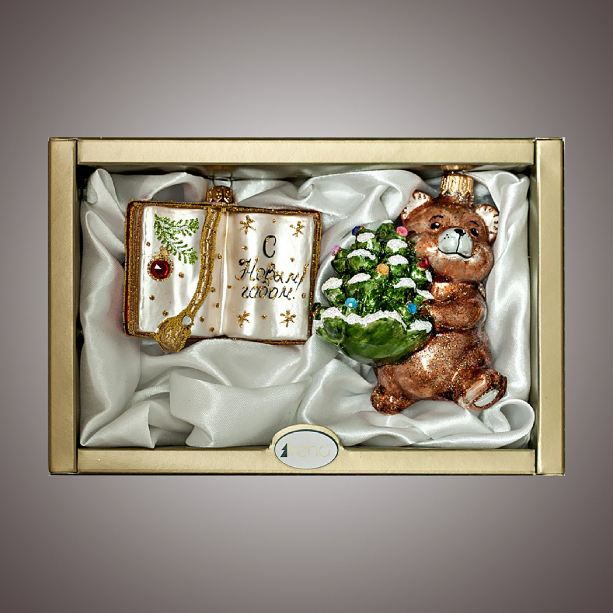 """Набор """"Мишка с елкой и книга"""""""