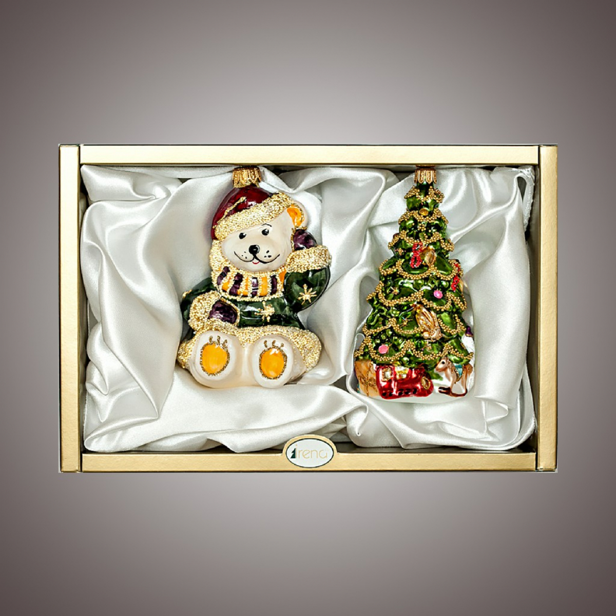 """Набор """"Елка с подарками, Мишка-Санта"""""""