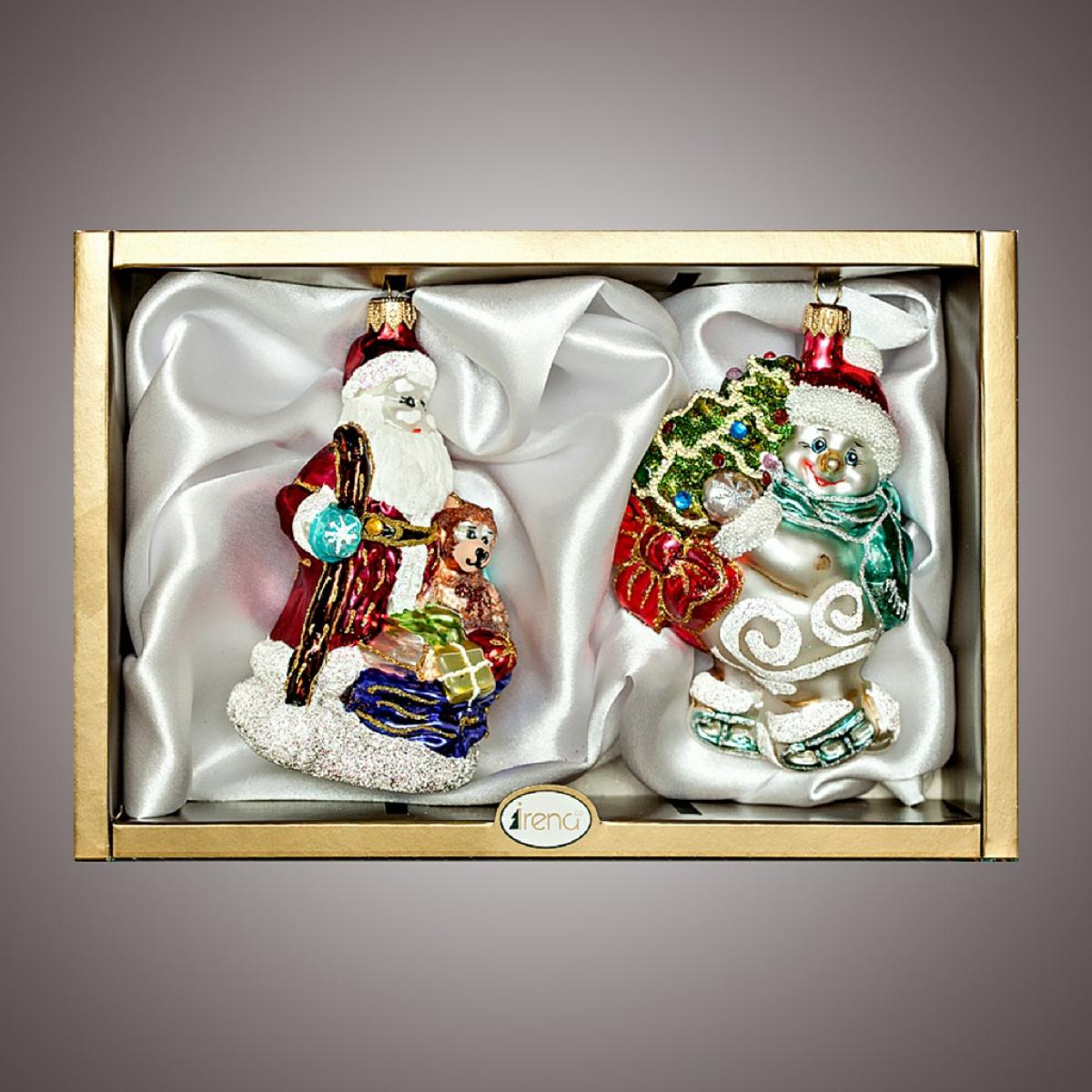 """Набор """"Дед мороз с посохом,снеговик на коньках"""""""