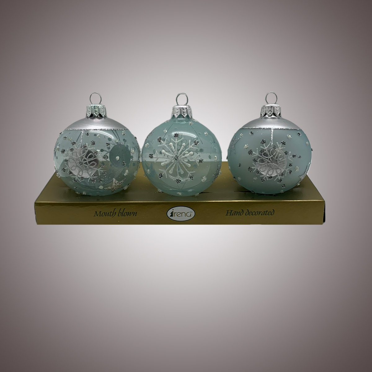 Набор шаров Д60 по 3 шт Серебряная дымка АРТ 80312