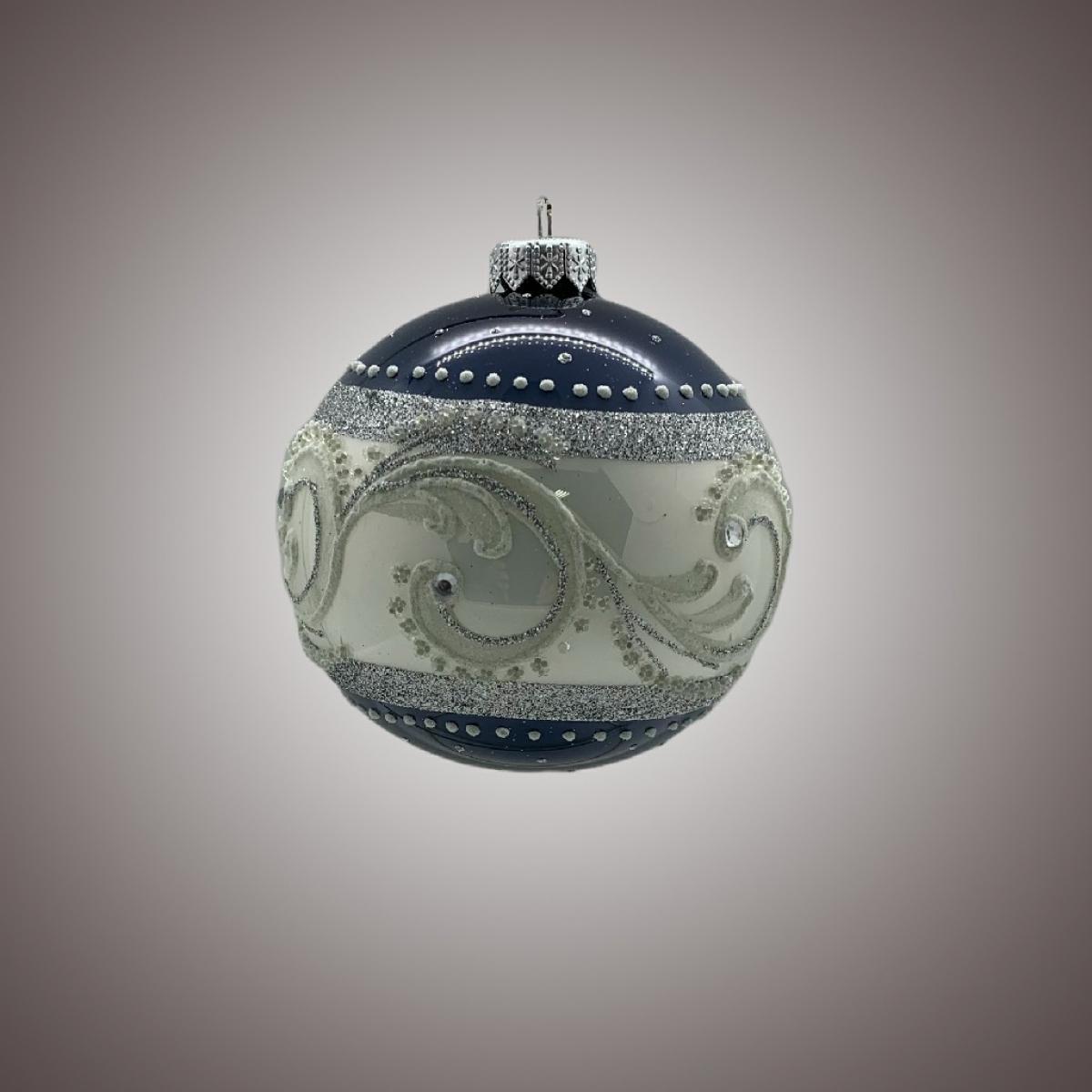 Шар Д 100 в инд.упак. Бело-синяя метель АРТ 91567